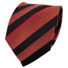 Schicke Krawatte kupfer braun rotbraun schwarz gestreift - Binder Tie