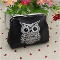Womens Owl Mini Wallet Card Holder Case Coin Purse Handbag Clutch Bag MP