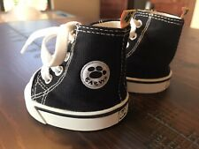Babw Build A Bear Black Canvas Hi Top Tennis Shoes/Sneakers. In good used condit