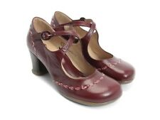 JOHN FLUEVOG OPERETTAS:: MALIBRAN RED LEATHER MARY JANE SHOES 10 HEEL PUMP