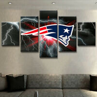 New England Patriots Champion 5 pcs Painting Printed Canvas Wall Art Home Decor