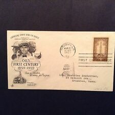 """Official 1st Day Cover by ArtCraft  """"OIL'S FIRST CENTURY 1859-1959"""" Scott #1134"""