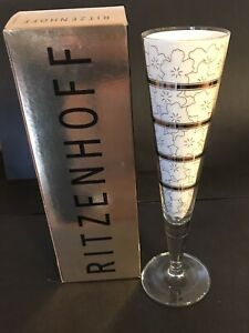 Unused Ritzenhoff Champus Champagne Flute Michael Graves  2003 Linen Napkin