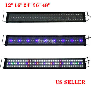 Aquarium Full Spectrum LED Light Lamp Freshwater Plant Fish Tank 12 to 48 in US