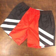 Vintage Freestyle Surf Shorts Swim Trunks Board Shorts Red Black White 80s