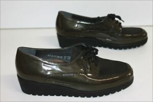 Mephisto Derby Woman Patent Leather Green Hunting T 3.5 Eur/ 6 US/36.5 Fr Ttbe