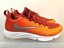 Nike Vapor Speed Turf Trainer CF Football Shoes 833408-606 Orange/Slvr/Wht Sz 10