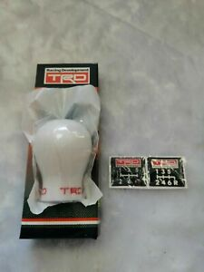 UKNEST TRD Style Resin BE White Gear Knob Shifter Sport Racing Car for Toyota