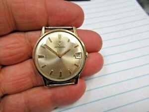 Vintage Wittnauer Swiss Date Mechanical Wind Wristwatch 10K RGP Nice!