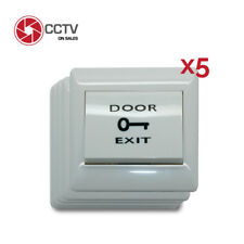 Push Request to Exit Button Access Control System 5 Pcs Lot Up to 0 to 250V