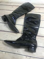 Mine de rien Womens Size 8 (39) Black Patent Shiny Knee High Boots Made in Spain