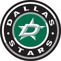 Dallas Stars Round Color Die Cut Vinyl Decal Sticker - You Choose Size