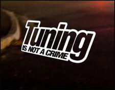 TUNING CRIME, Car Decal Vinyl JDM Sticker Euro Drift RS ST VW Audi JAPAN Nissan