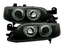 black clear finish ANGEL EYES Headlights for Opel Vectra B 99-02 Facelift