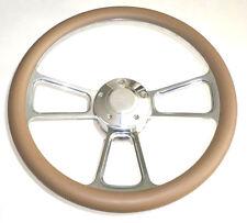 "Harley Davidson Golf Cart 14"" Tan Steering Wheel with Horn & Adapter"