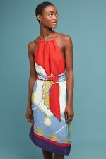 Maeve Anthropologie Onsen Scarf Print Asymmetrical Dress RRP £148.00 Large 12-14