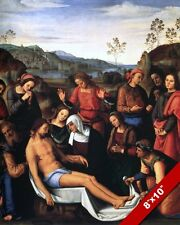 LAMENTING DEATH OF JESUS PAINTING CHRISTIAN BIBLE HISTORY ART REAL CANVAS PRINT