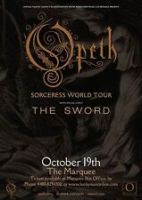 "Opeth/The Sword ""Sorceress World Tour""2016 Concert Poster For Phoenix or Houston"