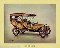 Poster Oldtimer Ford 1906 37,5x30,5 cm Oldtimerposter Autoposter vintage car