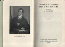 "A.D.GODLEY (Editor) - ""THE POETICAL WORKS OF THOMAS MOORE"" - OUP - LEATHER(1929)"