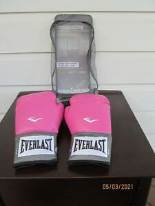 Everlast Women's Boxing Pro Style Training Gloves Pink 12 oz Level 1 New