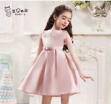 FORMAL PLAIN KIDS DRESS (AG) - OLD ROSE