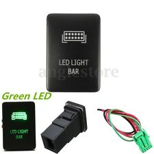12V Push Switch ON-OFF Green Etch LED Light Bar For Toyota Tacoma 2012-up US