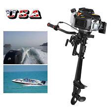 UPS 3.6 HP 4 Stroke Outboard Motor Tiller Shaft Boat Engine+ Air Cooling System