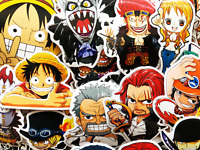 60 One Piece Anime Luffy Nami Zoro Tony Fanart Laptop Skateboard Stickers Decals