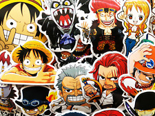 60 One Piece Anime Luffy Nami Zoro Tony Fanart Laptop Skateboard Stickers Decals