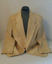 Mens Lone Pine  Leather Jacket Blazer Sportcoat USA 38 Khaki Tan