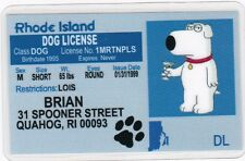 Brian the Dog from the Family Guy fun Novelty license/ id card