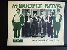1929 WHOOPIE BOYS - EXC COND LOBBY CARD - SILENT SHORT - LAUREL & HARDY CLONES