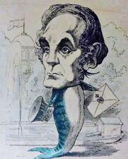 Hadol Paul LE MENAGERIE IMPERIALE.. LE MAQUEREAU (die Makrele)  fr Litho um 1860