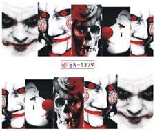 Nail Stickers Water Decals Transfers Halloween Saw Jigsaw Billy Skull (BN1379)