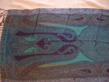 "Beautiful Design Scarf w/ Blue, Aqua & Purple, 75"" x 22"""