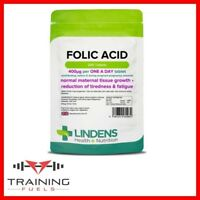 Lindens Folic Acid 400mcg 240 Tablets, Maternal Tissue, Tiredness & Fatigue