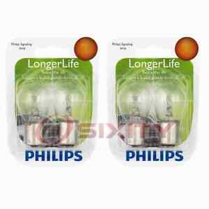 2 pc Philips Back Up Light Bulbs for Mitsubishi 3000GT Cordia Diamante rk
