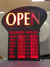 Ultra Bright Led Open Sign Light Flash Business Ad Board