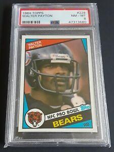 Walter Payton PSA 8 NM-MT 1984 Topps #228 NFL Bears
