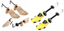 2 x MEN OR WOMENS WOODEN SHOE TREE STRETCHERS SIZE GENTS 6-12 OR LADIES 3-8