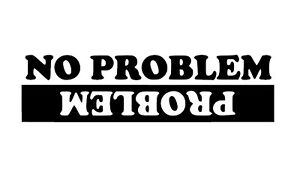 No Problem Upside Down Crash logo car van sticker stickers decal vinyl