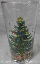 VINTAGE NIKKO HAPPY HOLIDAYS 12 Oz GLASSWARE TUMBLER LG DECAL LH38A