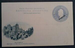 c.1880s Argentina 6c Stamped Postcard-Santa Fe Street Unused Specimen