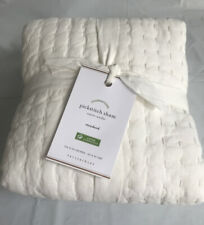 NEWw/tag Pottery Barn PickStitch Handcrafted Standard Pillow Sham Classic Ivory