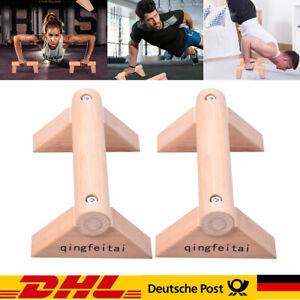 Premium Parallettes in medium oder small Liegestützgriffe aus Holz für Training