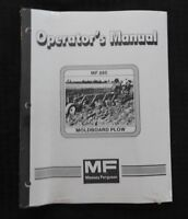 GENUINE MASSEY FERGUSON MF 880 MOLDBOARD PLOW OPERATORS OWNERS MANUAL SEALED!