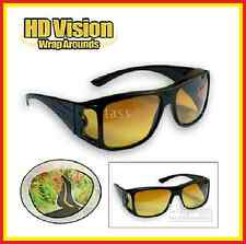 The Real Wrap Arounds Over Night Optic Vision Driving Anti Glare HD Glasses New