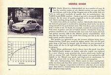 1956 MORRIS MINOR  ~  RARE ORIGINAL NEW CAR PREVIEW ARTICLE / AD