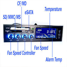 "5.25"" Front Panel All in One Card Reader CPU Fan Temp Speed Control Controller"